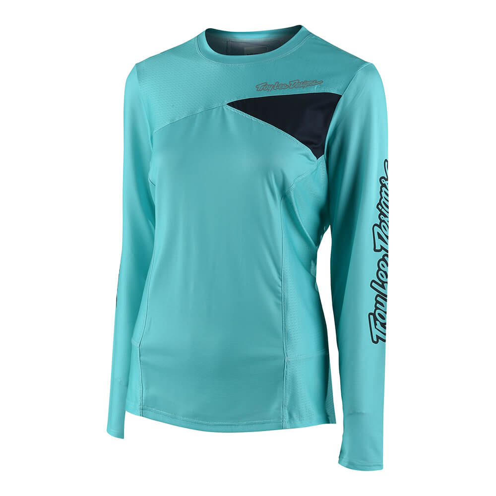 WOMENS SKYLINE LS JERSEY SOLID BLUE / BLUE