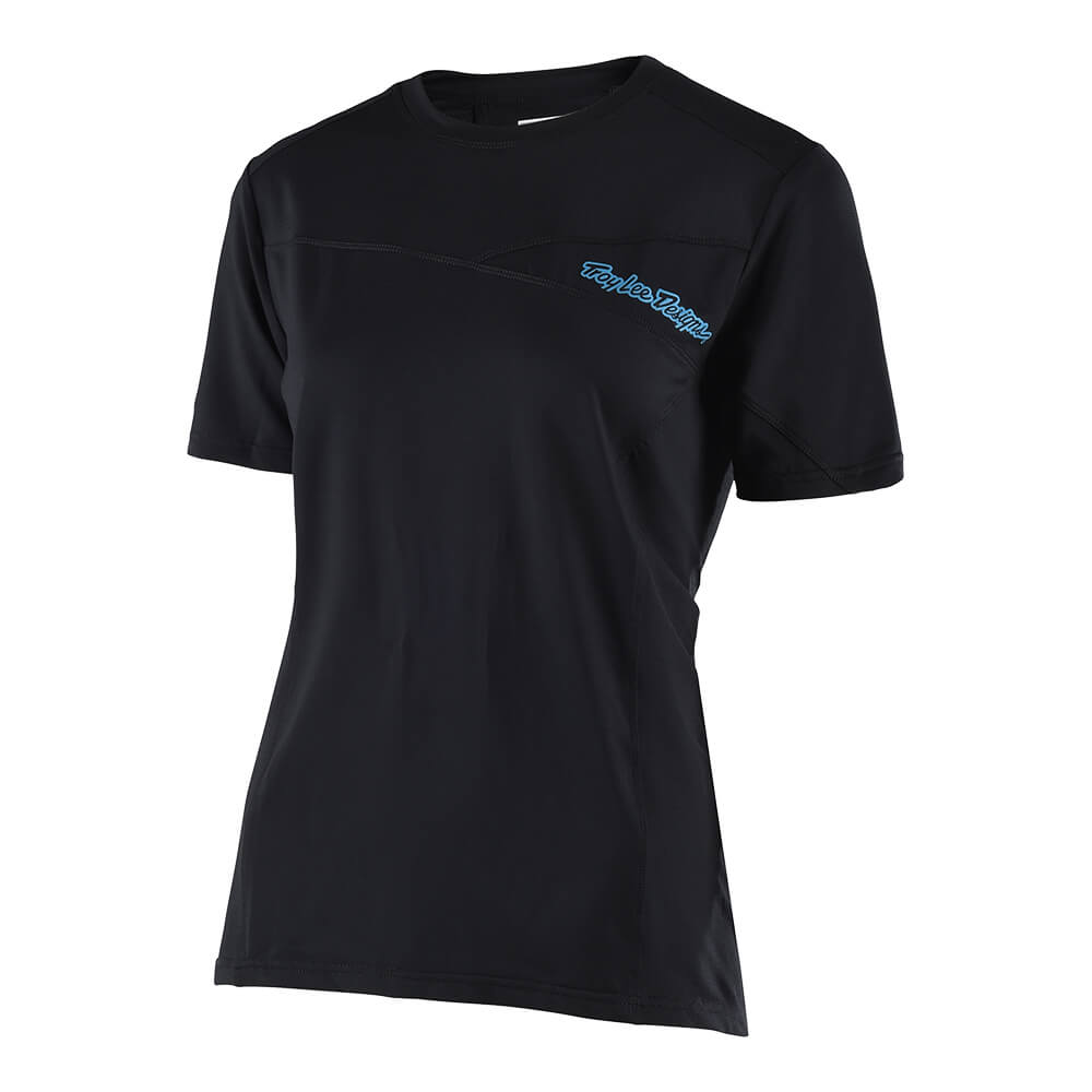 WOMENS SKYLINE SS JERSEY SOLID BLACK
