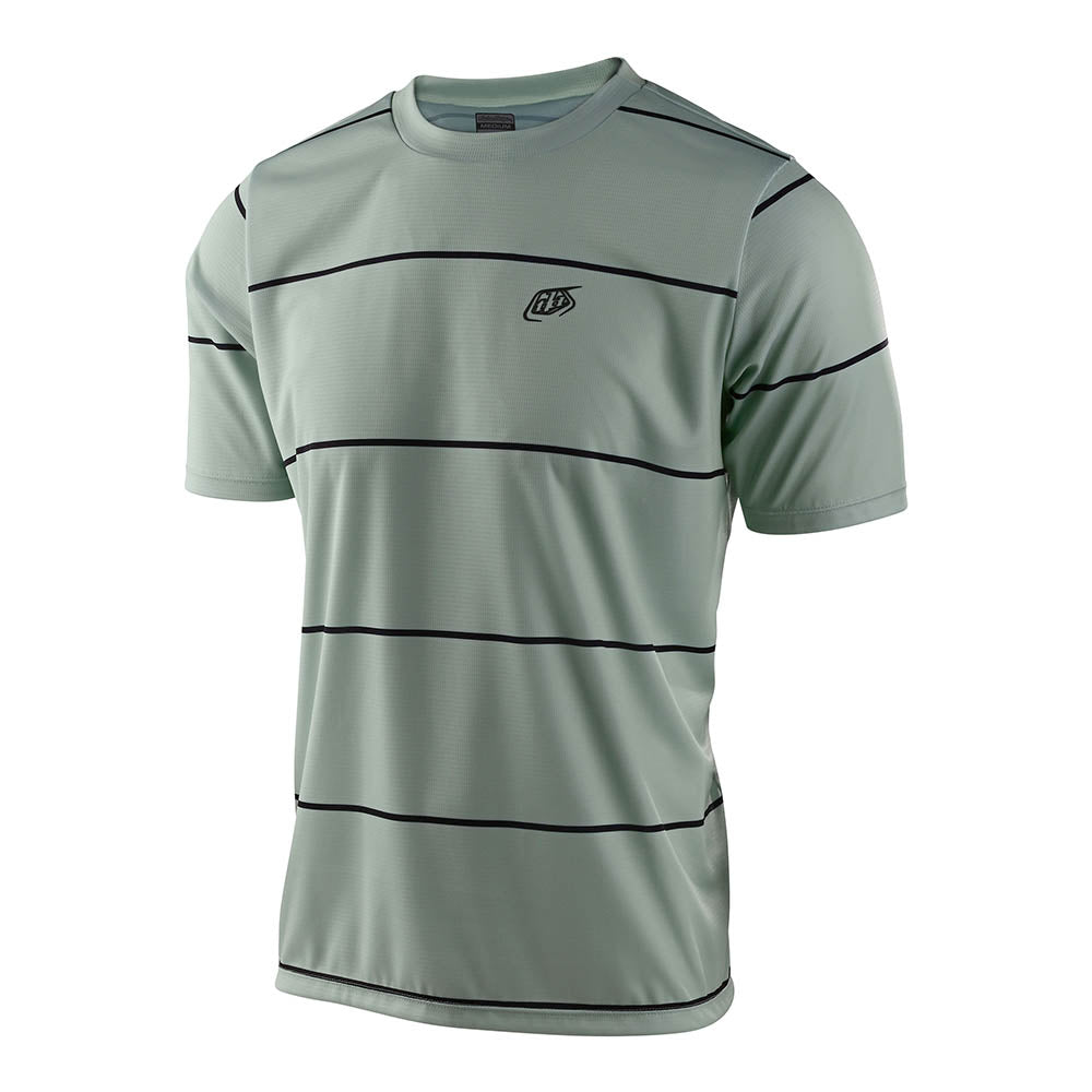 FLOWLINE SS JERSEY STACKED SMOKE GREEN