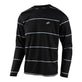 FLOWLINE LS JERSEY STACKED BLACK