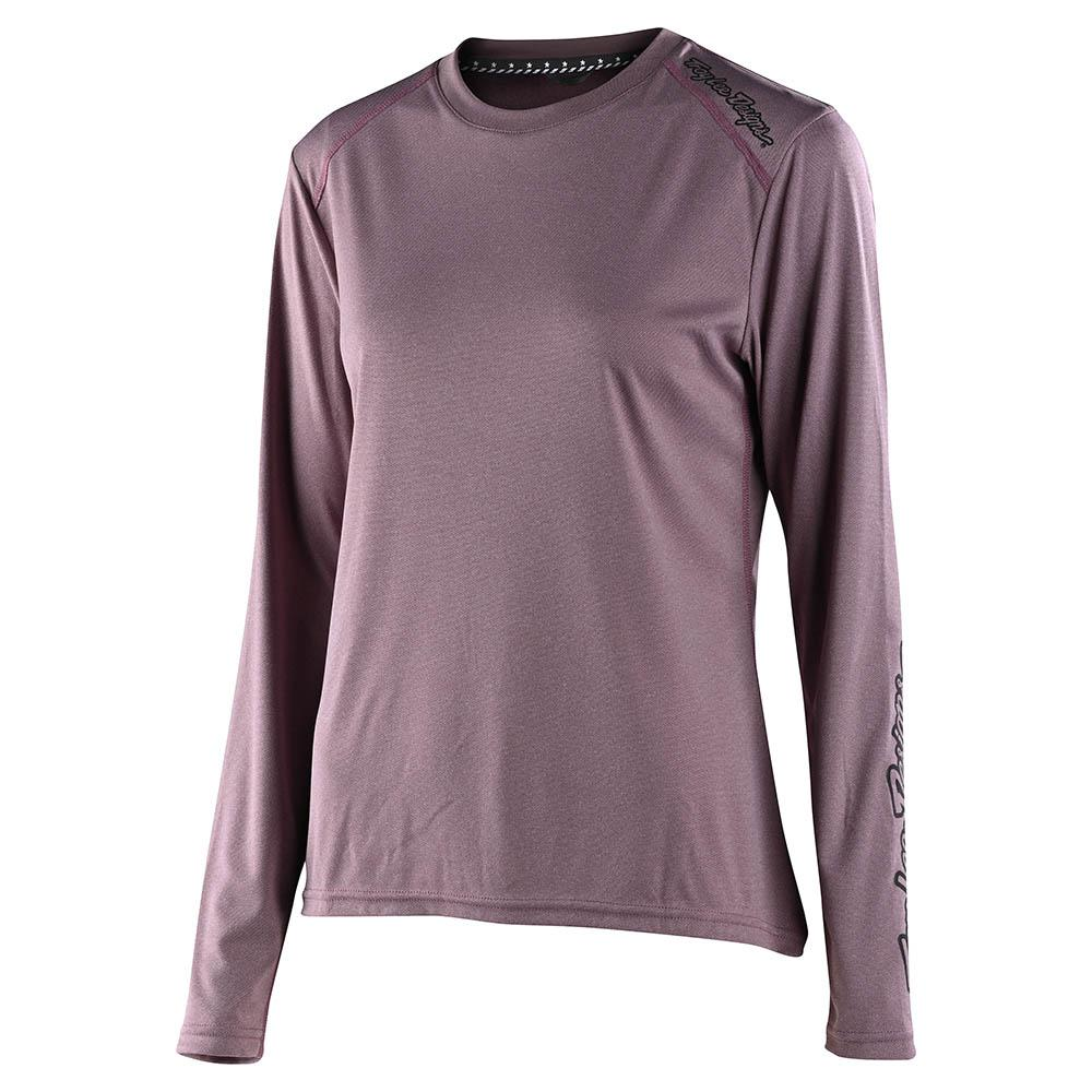 WMNS LILIUM LS JERSEY SOLID HEATHER GINGER