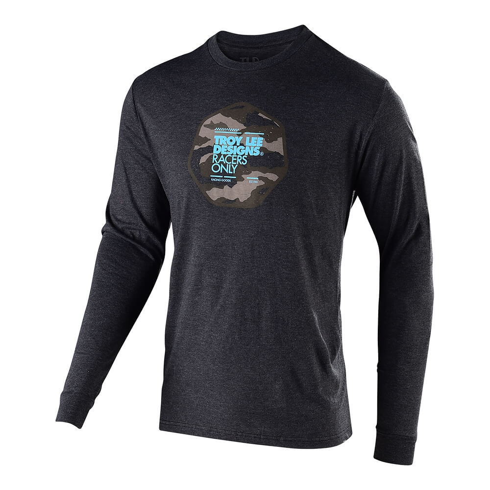 LONG SLEEVE TEE RACE CAMO CHARCOAL HEATHER