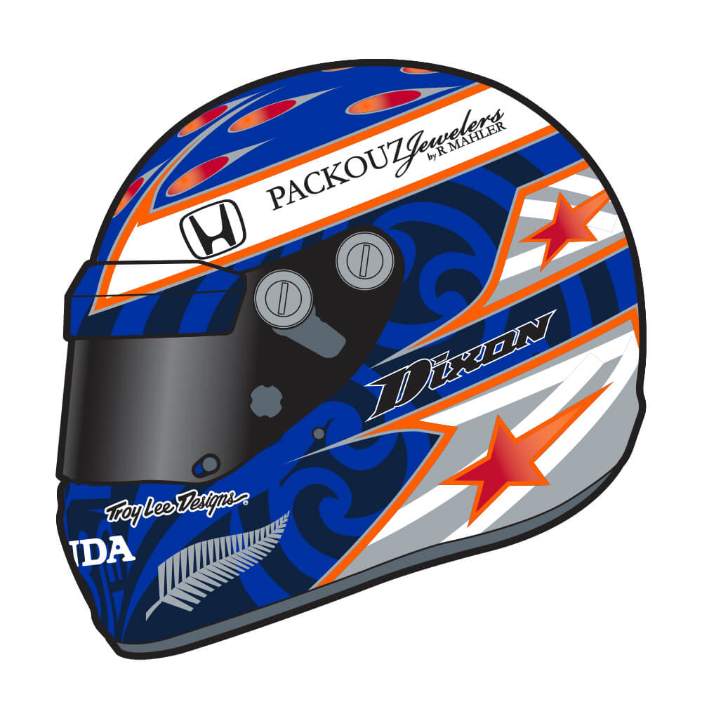 STICKER SCOTT DIXON RED / WHITE / BLUE