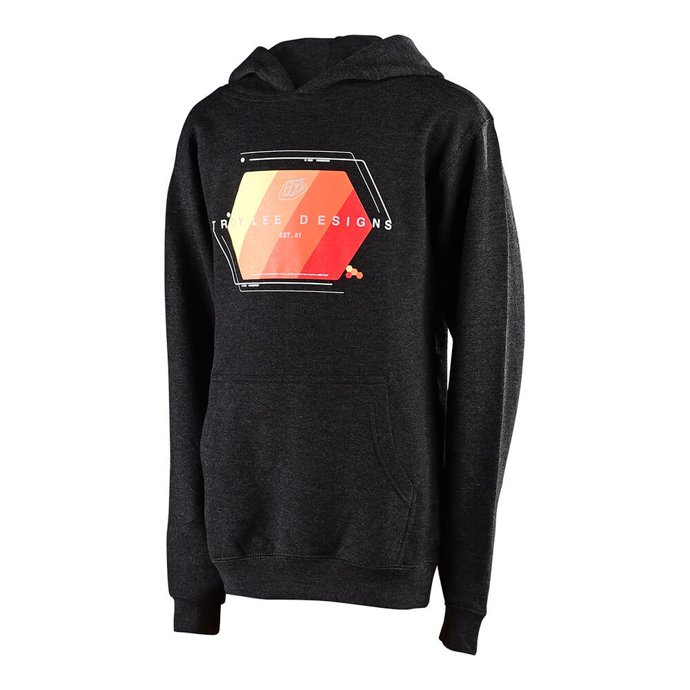 YOUTH PULLOVER TECHNICAL FADE CHARCOAL HEATHER