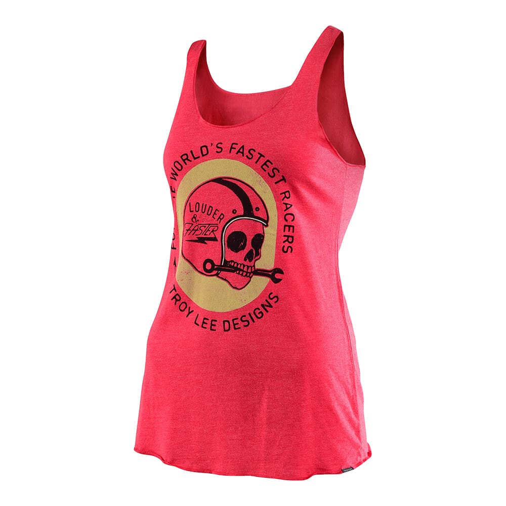 WOMENS TANK TOOL TIME VINTAGE RED