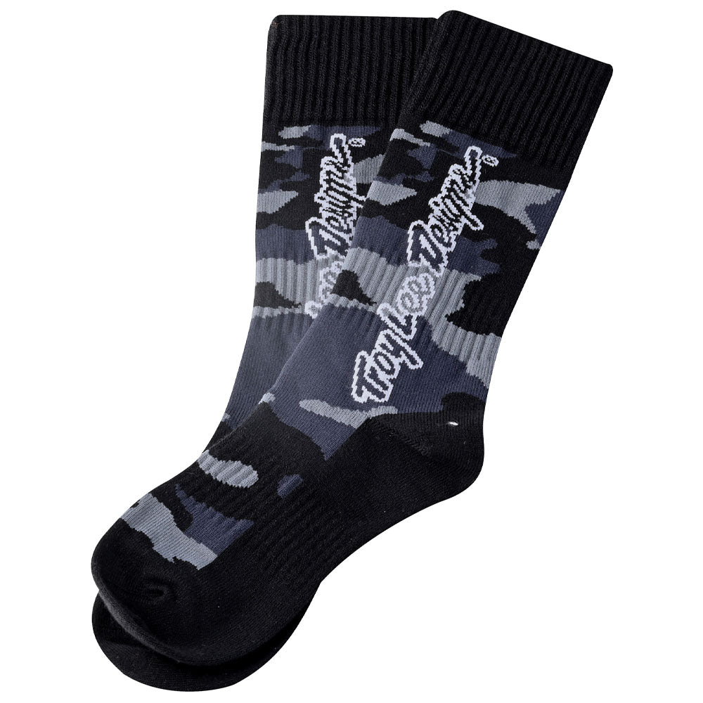 YOUTH GP MX THICK SOCK CAMO BLACK