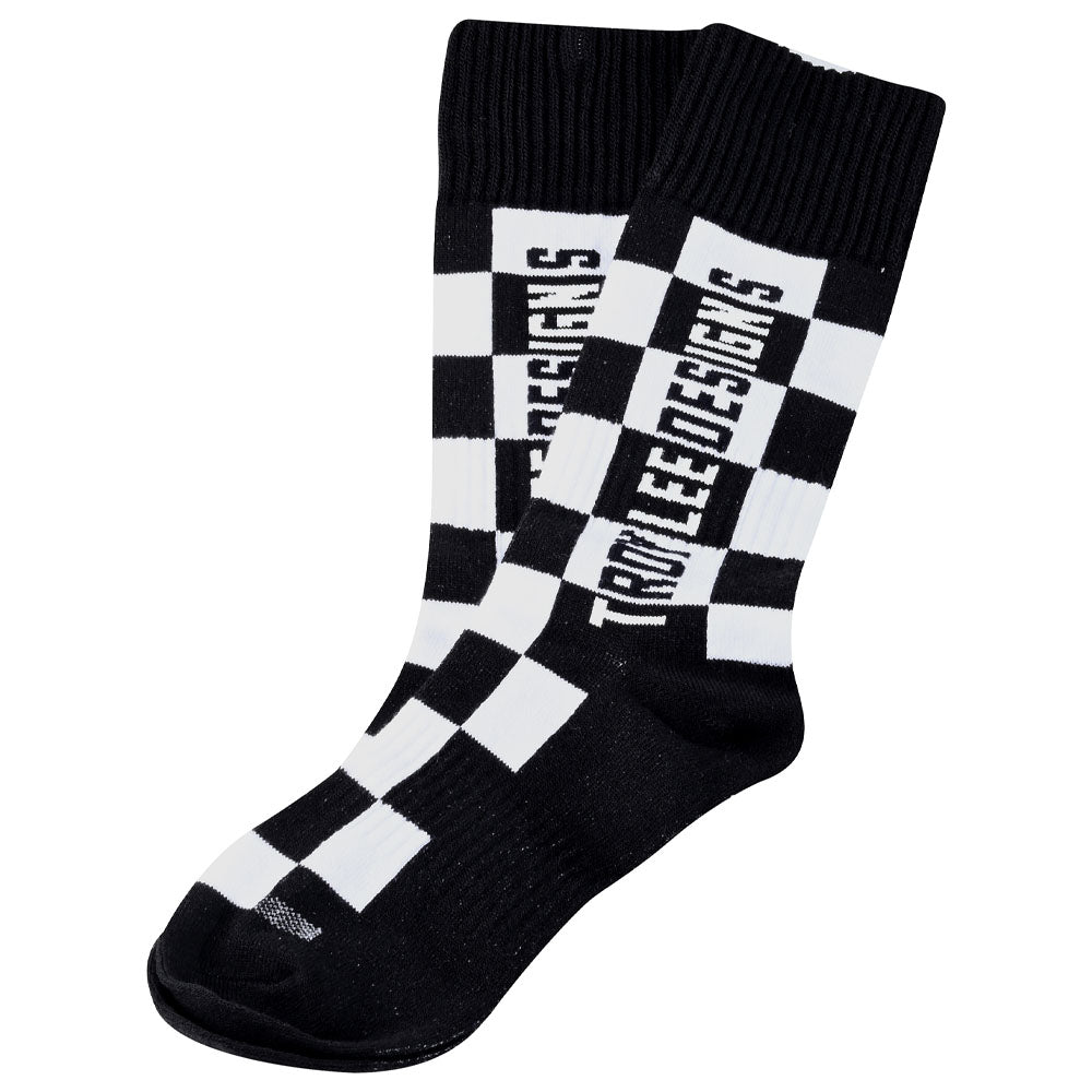 YOUTH GP MX THICK SOCK CHECKERS BLACK