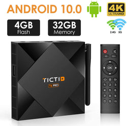 TICTID Android TV Box 10.0 avec Antenne Externe 【4GB DDR3 + 32GB ROM】