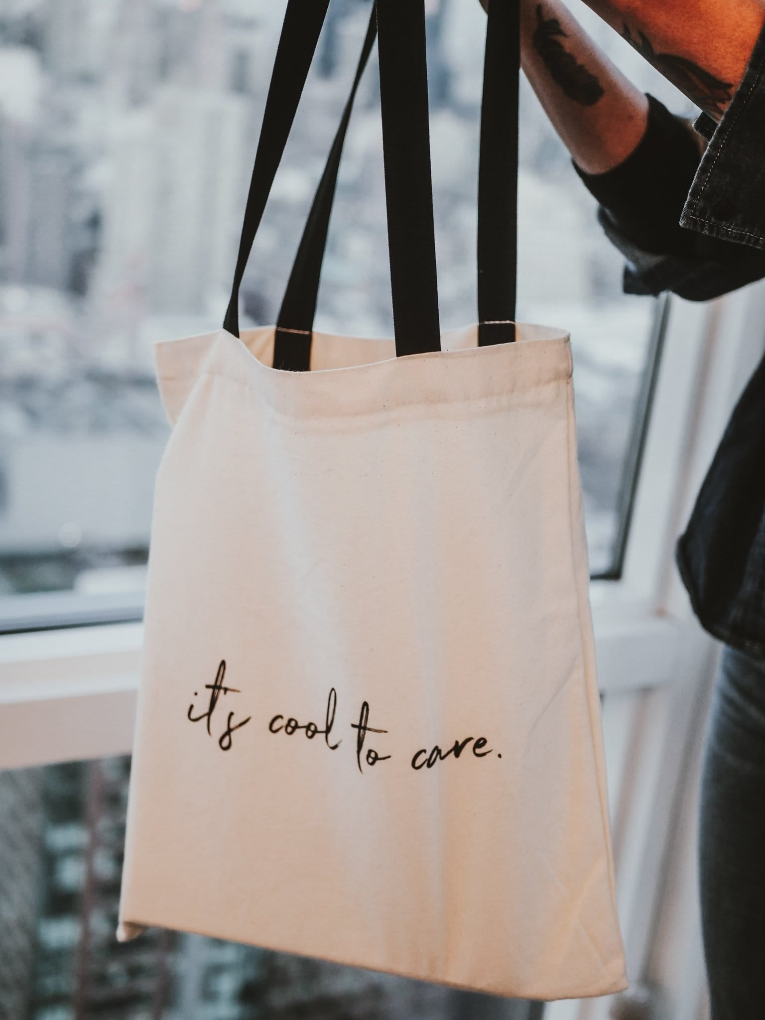 It's Cool To Care Tote - Cause Bracelet