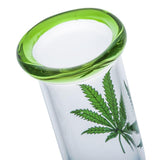 "8.3"" Leaf Print Mini Glass Bong 
