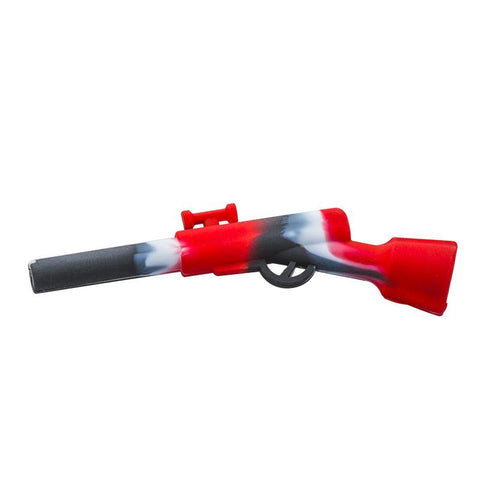 Rifle Silicone Pipe w/ Stainless Steel Bowl For Sale | Free Shipping