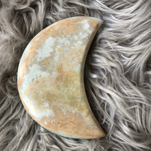 Load image into Gallery viewer, Caribbean Blue Calcite Moon