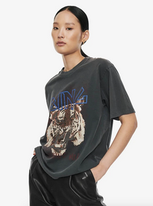 T-shirt Tiger ANINE BING washed black