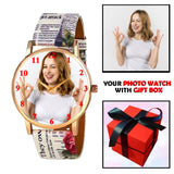 Customized Watch With Printed Straps For Girls (Print As Per Availability)