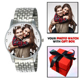 Elegant Silver Photo Watch Gifts For Men