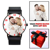 Black Magnetic Strap Personalized Photo Watch Gifts For Him