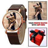 Brown Strap Customized Watch For Him