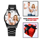 Black Customized Watch With Personal Picture