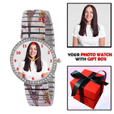 Personalized Watch For Fashionable Lady With Stretchable Band (Print As Available)