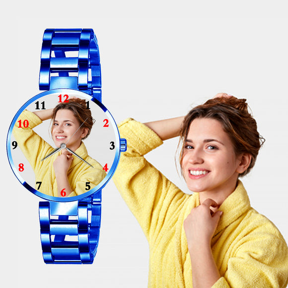 Fancy Custom Photo Watch For Her