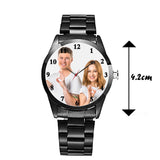 Classic Black Personalized Watch For Him