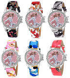 Printed Designer Custom Watch For Girls (Color & Print As Per Availability)