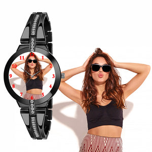 Stylish Photo Watch For Beautiful Lady