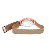 Stylish Rose Gold Customized Watch For Her With Magnetic Straps