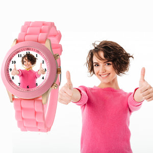 Silicon Strap Stylish Photo Watch For Teenagers & Young Girls
