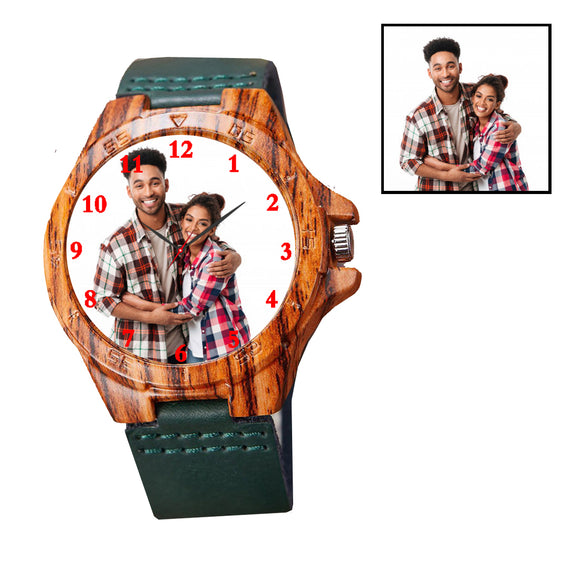 Green Wooden Customized Watch