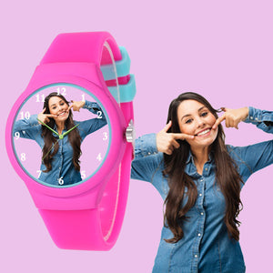 Jelly Strap Photo Watch For Teenagers & Young Girls