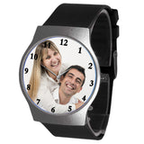 Black Colored Personalized Photo Watch For Him