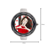 Elegant Silver Customized Watch Gift For Her