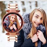 Stylish Rose Gold Customized Watch For Her