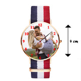 Nylon Strap Watch With Personal Picture For Him