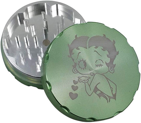Betty Boop Metal Herb/Weed Grinder | Pollen Catcher | Free Shipping