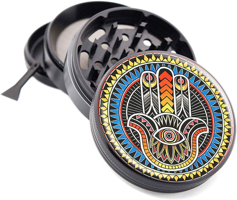 Hamsa Design Micro Crusher Black Weed/Herb Grinder | Free Shipping