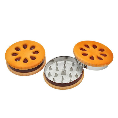 Biscuit Shape Stealthy Novelty Herb Grinder 2 Layer 56Mm