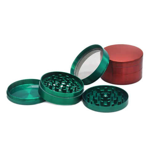 Classic Large Zinc Alloy Herb Grinder Heavy Duty 4 Layer 70Mm (3 Color)