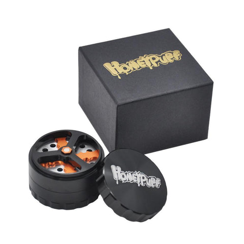 Honeypuff Blade Runner Herb Grinder 4 Layer 61 Mm (3 Color) - Black
