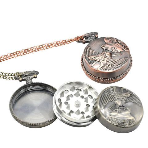 Necklace Hawk Pocket Watch | Herb/Weed Grinder | Free Shipping