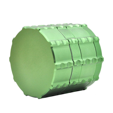 Notch Gear Novelty Aluminium 4-Layer Herb Grinder 60 Mm (4 Colors) - Green