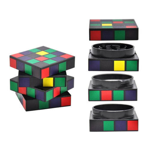 Rubix Cube Stealthy Novelty Herb Grinder 4 Layer 50 Mm
