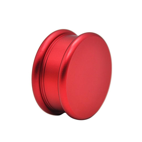 The Macaron 2 Layer Aluminium Novelty Herb Grinder 63Mm (4 Color) - Red