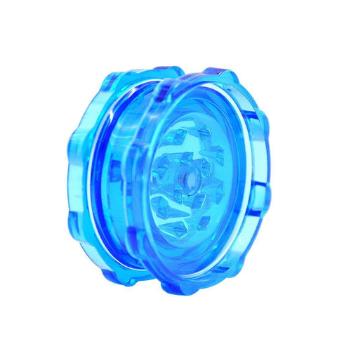 Transparent Plastic Novelty Herb Grinder 2 Layer 50Mm (3 Color) - Blue