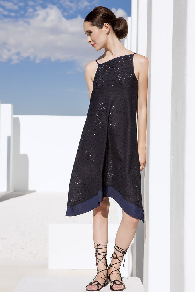 Tulum Dress Broderie Angalise Black