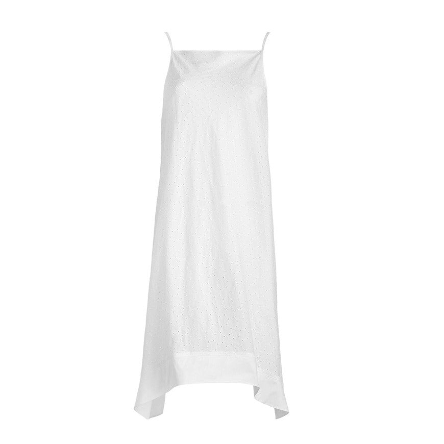 Tulum Dress Broderie Angalise White