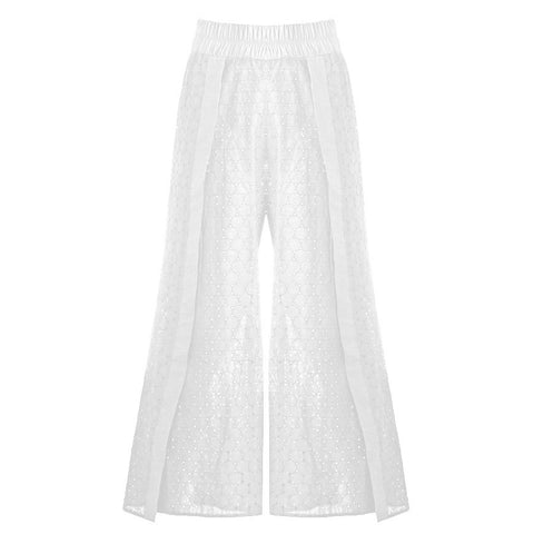 Belize Pants Unlined Broderie Anglaise White