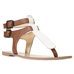 Patmos color blocked T strap sandal