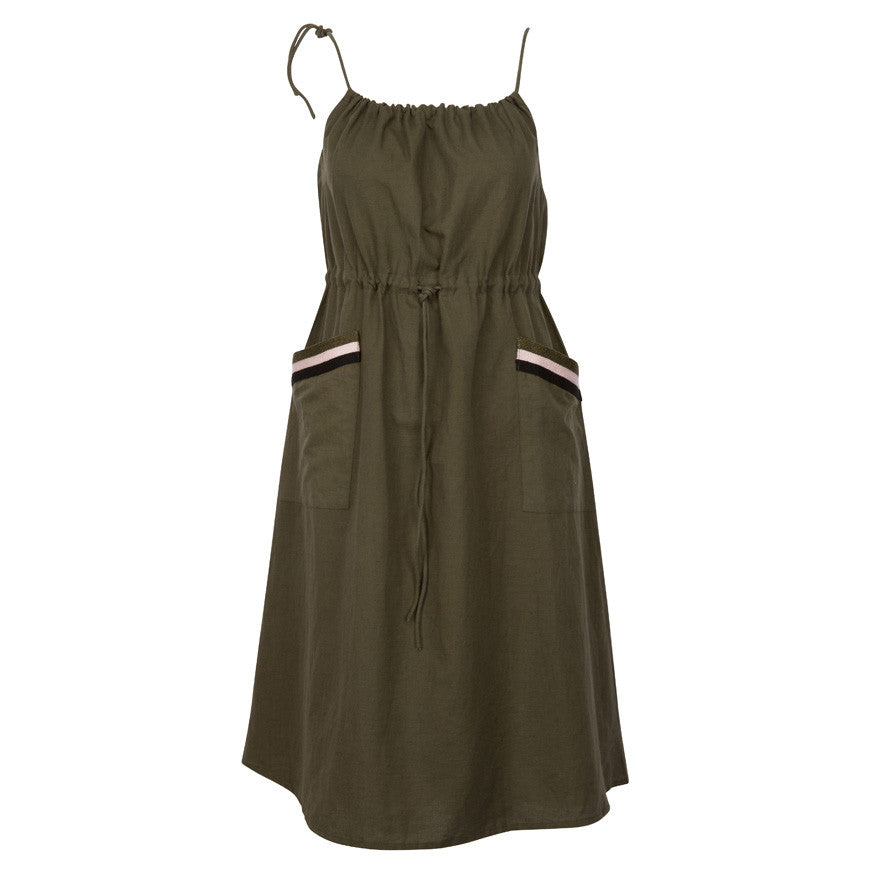 PV Dress w/ embroidery Olive